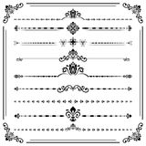 Vintage Set of ector Horizontal Elements. Vintage set of vector decorative elements. Horizontal separators in the frame. Collection of different ornaments Royalty Free Stock Photography