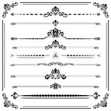 Vintage Set of ector Horizontal Elements. Vintage set of vector decorative elements. Horizontal separators in the frame. Collection of different ornaments Royalty Free Stock Image