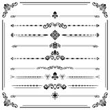Vintage Set of ector Horizontal Elements. Vintage set of vector decorative elements. Horizontal separators in the frame. Collection of different ornaments Royalty Free Stock Photos