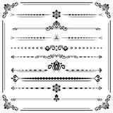 Vintage Set of ector Horizontal Elements. Vintage set of vector decorative elements. Horizontal separators in the frame. Collection of different ornaments Stock Image