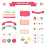 Vintage set Stock Images
