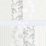 Vintage set of flower patterns Stock Image