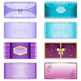 Vintage set of horizontal invitation card Royalty Free Stock Photography