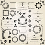 Vintage Set of Horizontal, Square and Round Elements Royalty Free Stock Image