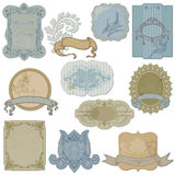 Vintage Set of Labels and Tags royalty free illustration