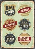 Vintage set of promotional labels Royalty Free Stock Image