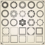 Vintage Set of Square and Round Elements Royalty Free Stock Image