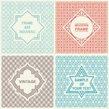 Vintage Set.  Templates Logo, Labels and Badges Stock Photos