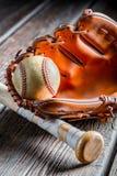 Vintage set to play baseball Stock Photography
