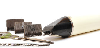 Vintage set of tools for cutting hair Royalty Free Stock Photos