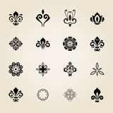 Vintage Set of Vector Elements Stock Images