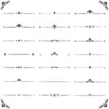 Vintage Set of vector Horizontal Elements. Vintage set of vector decorative elements. Horizontal separators in the frame. Collection of different ornaments Royalty Free Stock Photo