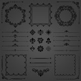 Vintage Set of Vector Horizontal, Square and Round Elements Stock Photography
