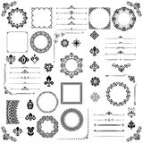 Vintage Set of Vector Horizontal. Square and Round Elements. Vintage set of vector horizontal, square and round elements. Different elements for decoration Stock Photo