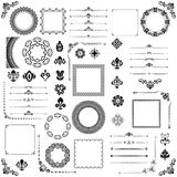 Vintage Set of Vector Horizontal. Square and Round Elements. Vintage set of vector horizontal, square and round elements. Different elements for decoration Royalty Free Stock Photography