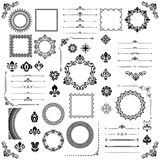 Vintage Set of Vector Horizontal. Square and Round Elements. Vintage set of vector horizontal, square and round elements. Different elements for decoration Royalty Free Stock Photo