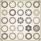 Vintage Set of Vector Round Elements Royalty Free Stock Photos