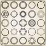 Vintage Set of Vector Round Elements stock illustration