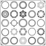 Vintage Set of Vector Round Elements. Different elements for decoration and design frames, cards, menus, backgrounds and monograms. Classic patterns. Set of Stock Images