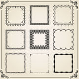Vintage Set of Vector Square Elements Royalty Free Stock Image