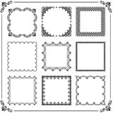 Vintage Set of Vector Square Elements. Vintage set of vector elements. Different square elements for decoration and design frames, cards, menus, backgrounds and Royalty Free Stock Photos