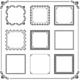 Vintage Set of Vector Square Elements. Vintage set of vector elements. Different square elements for decoration and design frames, cards, menus, backgrounds and Royalty Free Stock Image