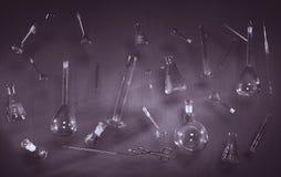 Vintage setup with laboratory equipment. Stock Photography