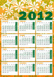 Vintage seventies 2012 calendar. Flower power vintage seventies 2012 calendar in italian vector illustration