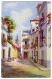 Vintage Seville Postcard Royalty Free Stock Images