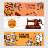 Vintage Sewing Banners Royalty Free Stock Photo