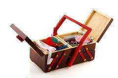 Vintage sewing box Stock Image