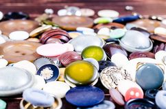 vintage sewing buttons Stock Photography