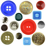 Vintage sewing buttons, isolated Royalty Free Stock Photo