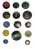 Vintage sewing buttons set Royalty Free Stock Photo