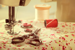 Vintage Sewing Items Stock Photos