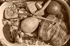 Vintage sewing kit Royalty Free Stock Photography