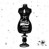 Vintage Sewing Kit Label Design Stock Photo