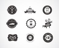 Vintage Sewing Labels, Elements And Badges Royalty Free Stock Photos