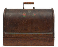 Vintage Sewing Machine Case Royalty Free Stock Images