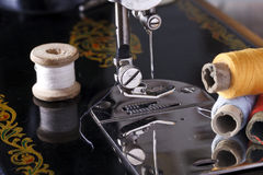 Vintage the sewing machine Stock Images