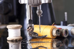 Vintage the sewing machine Stock Image