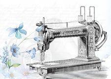 Vintage, Sewing, Machine, Sew Stock Image