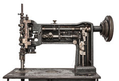 Vintage sewing machine. White isolated Royalty Free Stock Photo