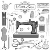 Vintage Sewing and Tailor object Royalty Free Stock Photos