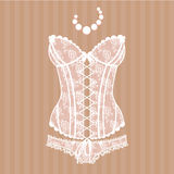 Vintage sexy guipure corset Royalty Free Stock Image