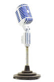 Retro mic with indigo blue mesh guard Royalty Free Stock Images
