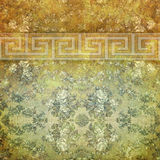 Vintage shabby background with classy patterns Stock Image