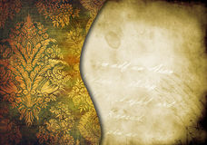 Vintage shabby background with classy patterns Royalty Free Stock Image