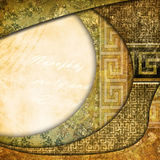 Vintage shabby background with classy patterns Stock Photos