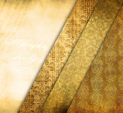 Vintage shabby background with classy patterns Royalty Free Stock Photography
